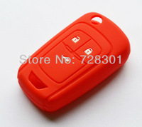 Red Silicone Key Case Cover Holder Protecting Bag For Chevrolet Cruze Aveo Sonic Volt Malibu Impala With 3 Buttons Flip Key