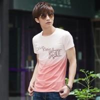 2014 new spring fashion korean version men's T-shirts leisure comfortable couple code bottoming shirt free shipping