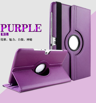 (3pcs/set=1 case+1 pen+1 screen protector) 11 colors PU leather case  Smart  Case Stand For Samsung Galaxy Note 10.1 N8000