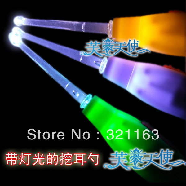 Slip handle light Ershao dig earpick curette ear baby essential supplies with light(China (Mainland))