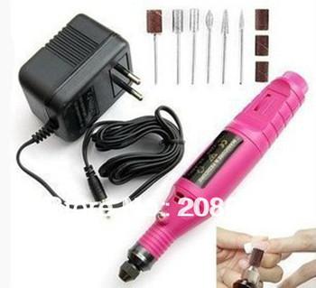New Mini Pink Pen Shape Electric Nail Drill Art Tips Machine Manicure File Polish Tool