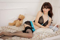 Bling Recommend Adult sexy sleepwear open-crotch the temptation of uniforms female transparent milk full dress set nightgown