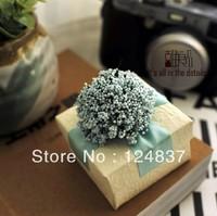 Milky white lavender Wedding box Handmade flower Candy Box Chocolate box Romantic Aegean Sea gift box 50pcs/lot