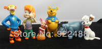 Freeshipping 6pcs My Friends Winnie and tigger Too Piglet Eeyore Buster
