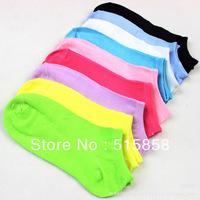 Women's Invisible cotton Boat Socks,candy socks,invisible socks,shallow mouth socks,20pcs,10pairs/lot--F58
