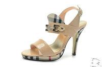 brand  Pretty Ladys New beige  black high heel sandal shoes free shipping