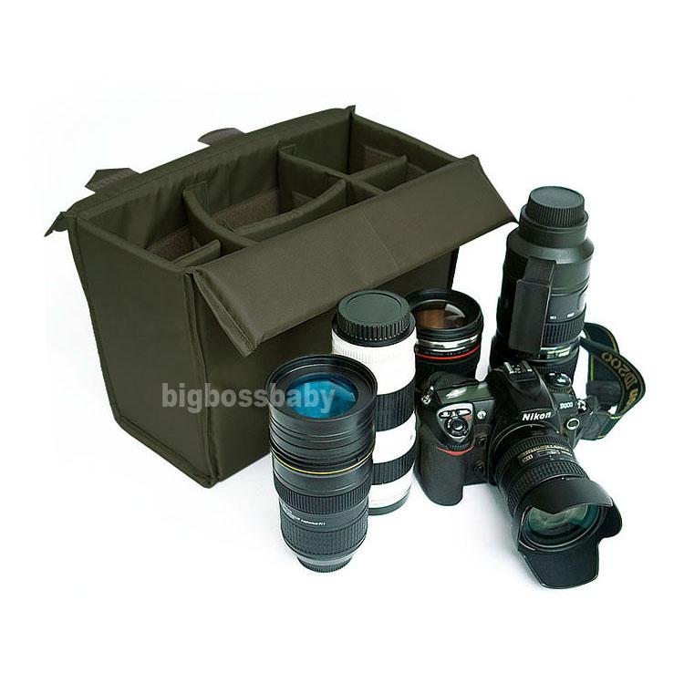 DSLR Folding Camera Insert Bag Case Partition Padded Protection for Canon 600D 60D 70D 7D 5D Nikon D90 D5100 D7000 waterproof(China (Mainland))