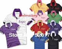 women's quickly vents perspiration double lapel classic brand embroidery logo cotton short sleeve polo golf shirt