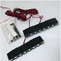 New Thick DC 12V pair 6 LED Car Daytime Running Light Lamp Super Bright White DRL LED Car Light