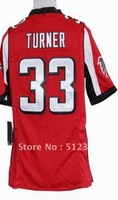 Free shipping!! 2012 new style #33 Michael Turner 2012 new red jersey