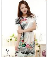 2013 nightgown polyester satin robes silk touching sweet summer sleepwear for women home dress