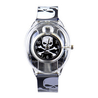 Willis quartz watch skull table jelly table resin table men and women watches unisex table