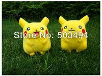 "High Quality Soft Plush 10/Lot Pokemon Pikachu Plush Doll Clip 3"" Plush Keychain"