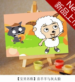 NickYard* Digital oil painting diy 7 mini cartoon clothing decorative painting new arrival 10(China (Mainland))