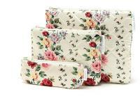 MZ147 Cute Sweet Flower 3 bag set Satin multifunctional Cosmetic organizer bag Japan Magazine Gift Free shipping  J13