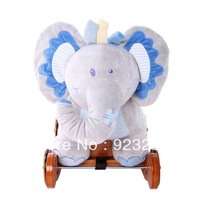 Educational toys dual elephant rocking horse blue elephant pink elephant toy rollaround trojan Birthday holiday gifts