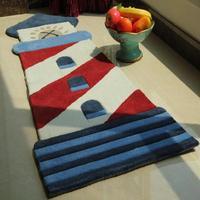 Lighthouse irregular child cartoon series carpet real child bed blankets