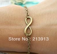 FREE SHIPPING  Wholesale 20pcs bracelet---Fashion infinity bracelet chain bracelet women bracelet