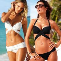 hot sell X form knot black white swimwear VS women bikini sexy beach swimsuit swimsuits Tankini women secr beachwear beachwear