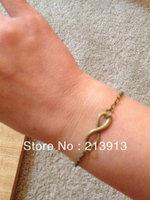 FREE SHIPPING  Wholesale 50pcs bracelet---Fashion infinity bracelet chain bracelet women bracelet