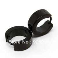 Stainless steel Men's Black  Stud Earring
