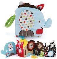 Animal Elephant Alphabet Zoo Soft Activity Books, Infant baby early education books baby Plush cloth books toys spring