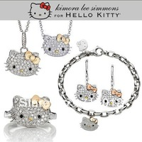 Min.order is $15 (mix order) free shipping hello kitty jewelry cheap,hello kitty wholesale in gold bow with free jewelry gift-
