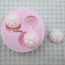 Frete grátis 3D Mini flores de resina de silicone moldes de sabão artesanal fondant , DIY Soap / Fimo / bolo / molde do chocolate , ferramentas de decoração do bolo(China (Mainland))