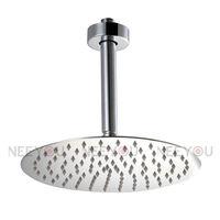 2013 NEW Bathroom Stainless Steel  Chrome 10 inch Round Rainfall Shower head Ultrathin  Rain Shower 31020A