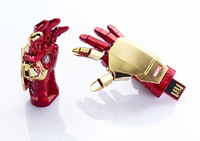 luminous  Iron Man 3 Hand Model USB 2.0 Memory Stick Flash pen Drive 16G 32G 64G 128G P324
