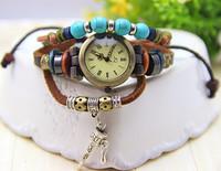Fashion Vintage Bell  Leather Bracelet Watch Cow Leather Women Dress Watch 1piece/lot BW-SB-182