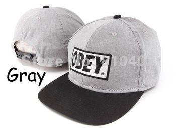2Pcs/Lot Freeshipping 2012 Hot Sale HIGH QUALITY Classi Box Logo Red OBEY Original Snapback Hats Cap Black White H-104