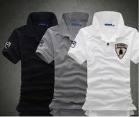 Free shipping2013 New Mens T Shirt +Men's Short Sleeve T Shirt slim fit ,Polo shirt ,cotton,13colors ,4size,drop shipping MTS46