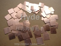 Thermal conductivity of copper sheet  1.5*1.5*0.5/0.8/1 (Please leave a message Description Requirements Specifications)
