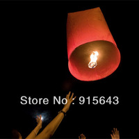 Free Shipping, Hearted-Shaped Chinese Conventional Festival Flying Sky Lanterns, Big Size Lanterns,300pcs/lot red and white