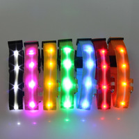 New arrivel Pets LED Collar Light-up Flashing Glow Safety Collar Nylon 2.5cm Wildth S M L XL Free & Drop shipping SL00309