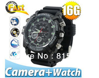 NEW 1080P HD 2.0MP 16GB Camera Watch Hidden DVR IR Night Vision Weatherproof JTQ0019 free shipping