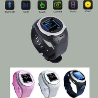 Free Shipping Unlocked Touch Screen Quad-bands GSM Watch Cell Phone Bluetooth Mobile Camera MQ998+Free 4GB TF Card
