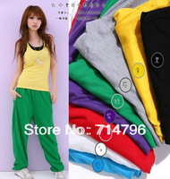 Women Casual Sports Hip Hop Pants YOGA DANCING Trouses Loose Pants 10pcs/lor Free Shipping