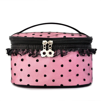 Big Dot Lace Professional Cosmetic Bags Women's Handbag Big Capacity Storage Bag