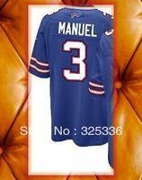 3 EJ Manuel Light Blue Game Football Jerseys 2013 New Mix order