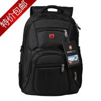 2014 Hot-selling swiss  bag travel bag backpack laptop bag  14 15 male women's backpack