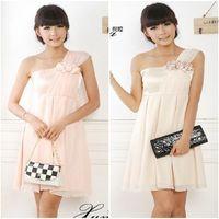 2013 women's fashion one shoulder bandeaus interspersion gentlewomen flower jumpsuit dress 3