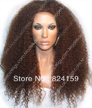 2013 Free shipping  korean heat resistant fiber fashion curly synthetic lace front wig