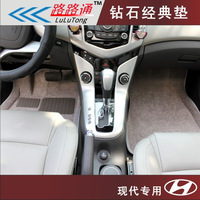 3d velvet mat  for hyundai   elantra tucson car cool school santa fe car mats