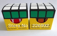 Retail Drop Shipping 1pc/lot New Arrival 5.7cm Funs Puzzle Fangshi Shuang Ren 3x3 Magic Cube super quality+Free Shipping