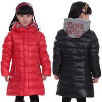Child down coat female coat medium-long down child down coat children's clothing