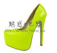 10 цветов новые прибывают пу сексуальная 15 см на высоком каблуке платформы насосы слайды, торговой недвижимости