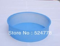 "wholesale- 100 sets 9"" Round SILICONE CAKE BAKING MOLD Bake Brownie Cake Decorating Dessert Pan"