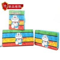 Wallet DORAEMON three-dimensional cartoon women's long striped short long design wallet